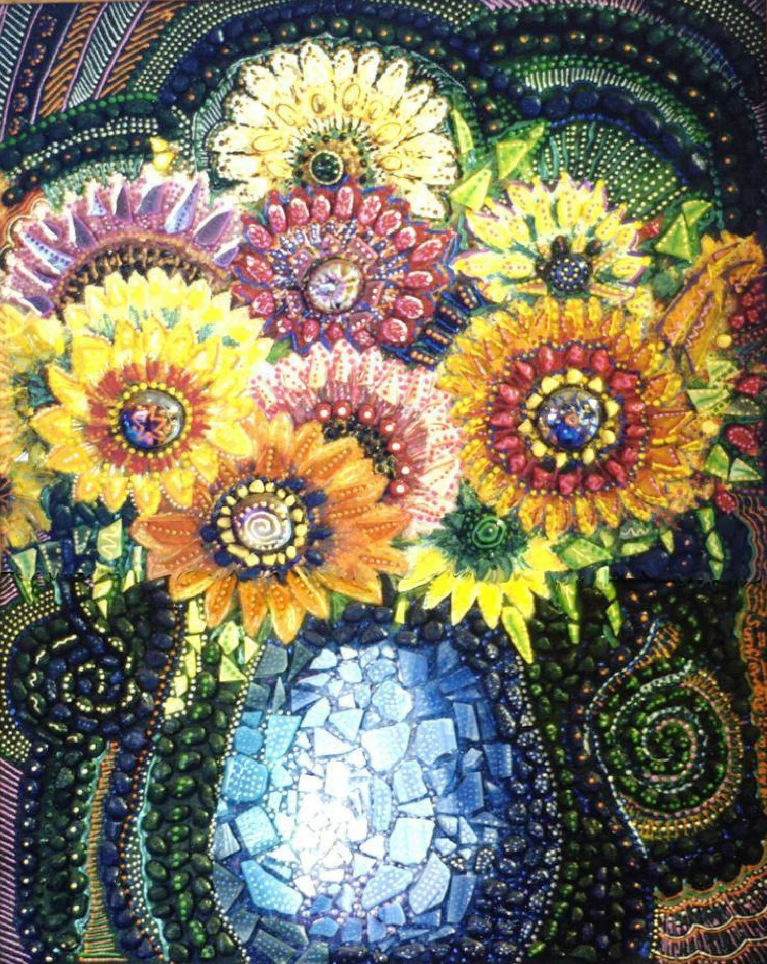 SOLD - Sunflower Mosiac